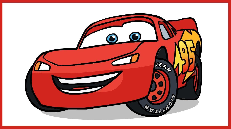 How to Draw Lightning McQueen. Cars Disney Pixar