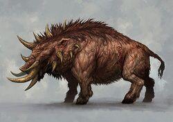 Criatura, fera, porco, espinhos