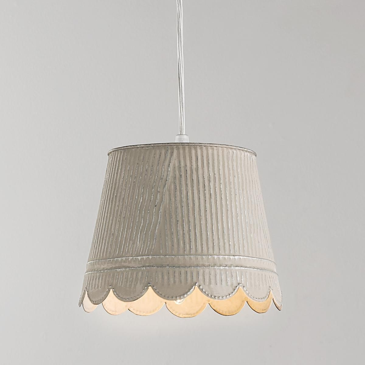 country chic lighting. Scallop Tin Pendant Light From Shabby Chic To Industrial Style, This Galvanized Adds Charm And Back-to-nature Appeal. Country Lighting E