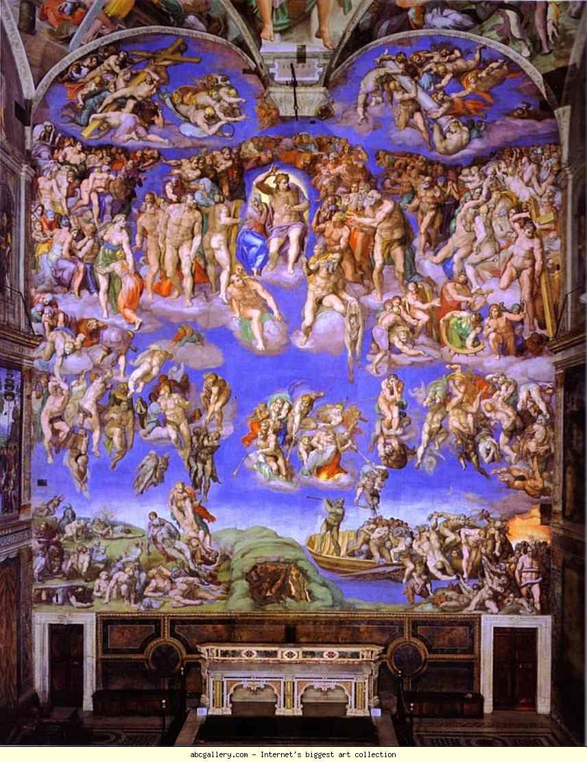 El juicio final, Miguel Ángel. Capilla Sixtina del Vaticano ...