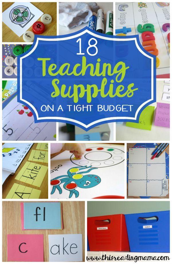 18 Teaching Supplies on a Shoestring Budget | Teaching supplies ...