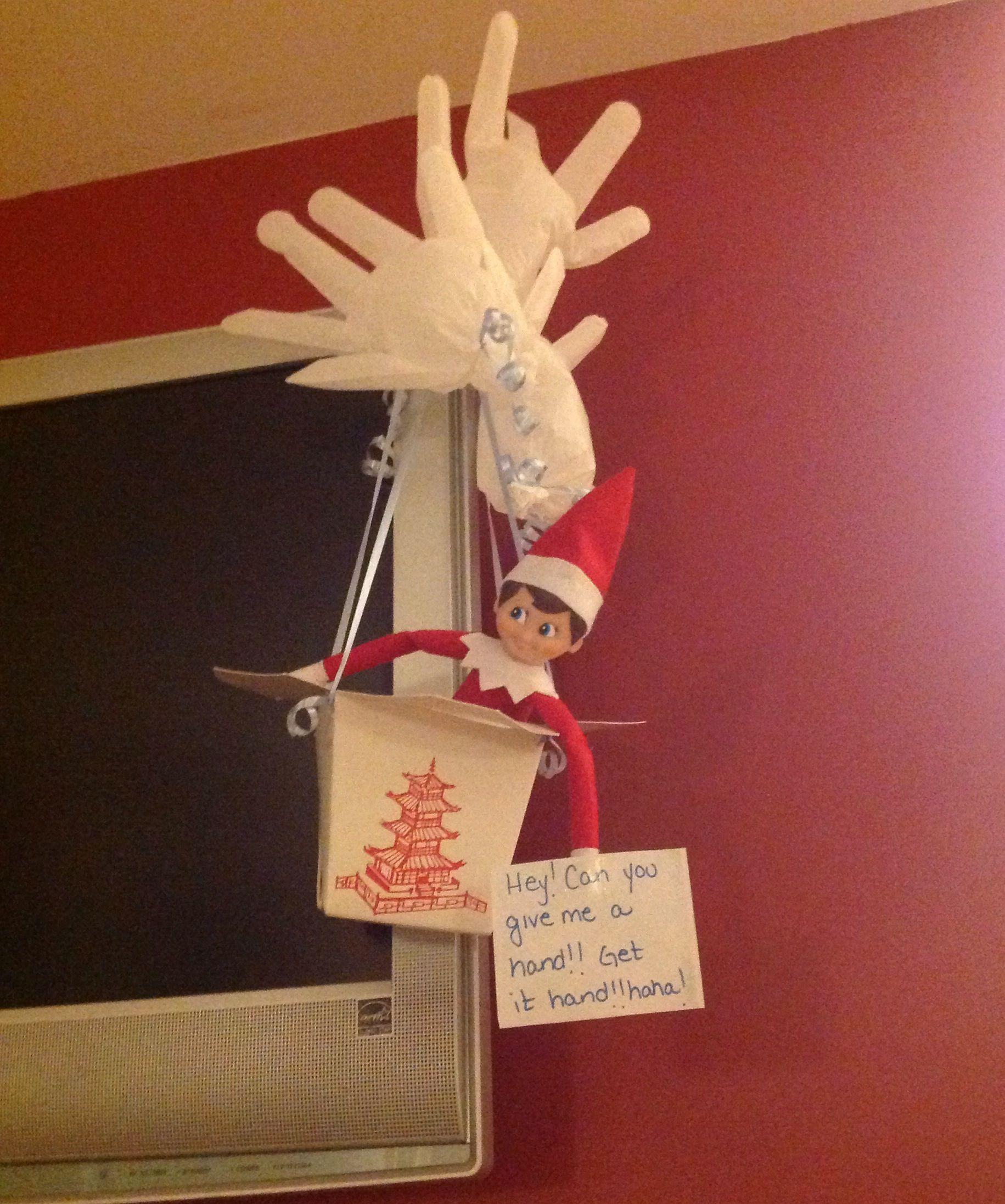 Elf on the shelfParachute accident Elf on the shelf