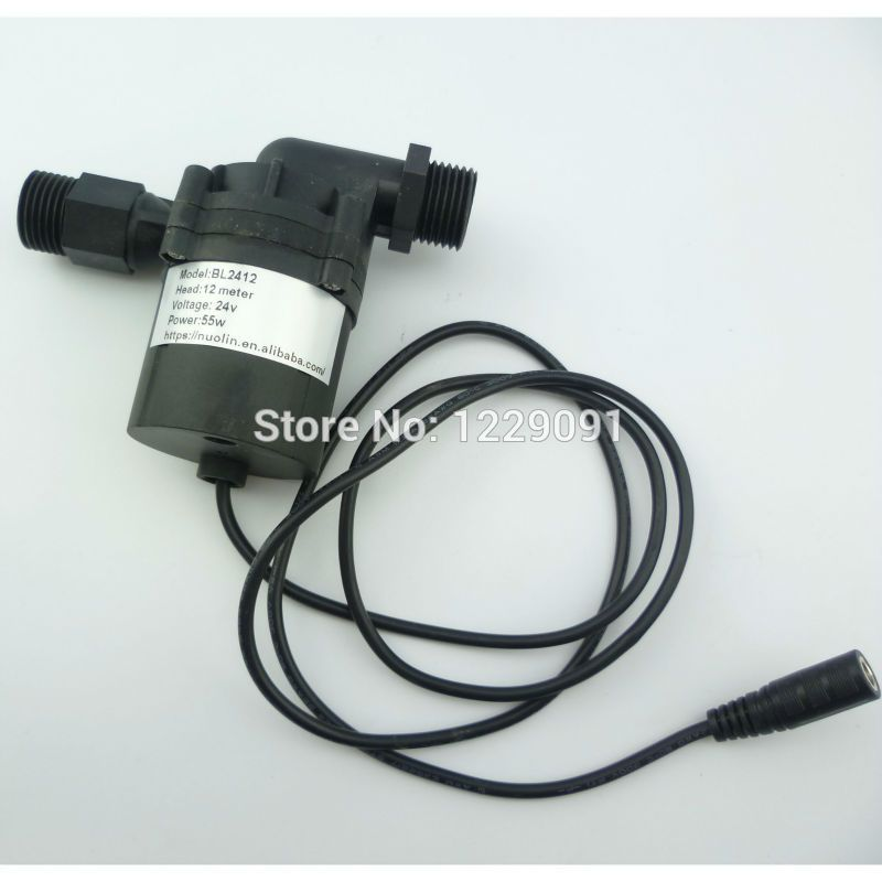 1pcs Hot Newest Dc 24v 12m Water Heater Booster Pump Brushless Motor Water Pump Submersible Water Pumps Submersible Water Heater