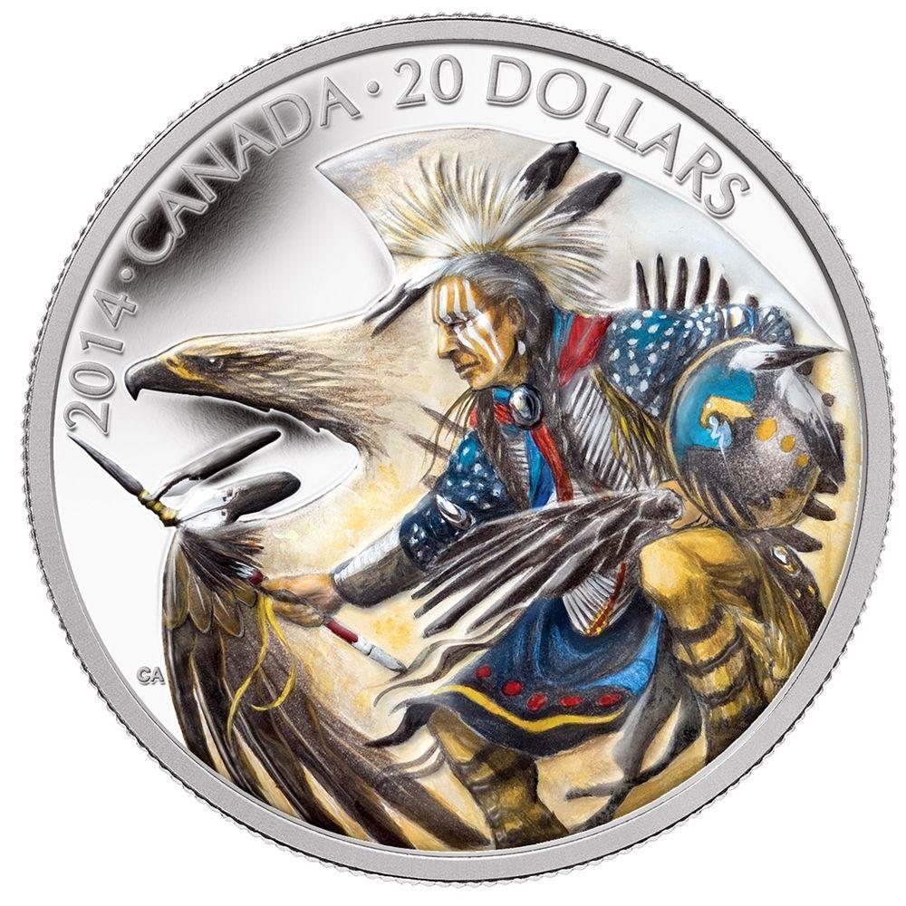 2014 $20 Legend of Nanaboozhoo 1oz silver coin