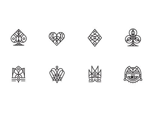 Spade Heart Diamond Clover Icons Infographics Pinterest