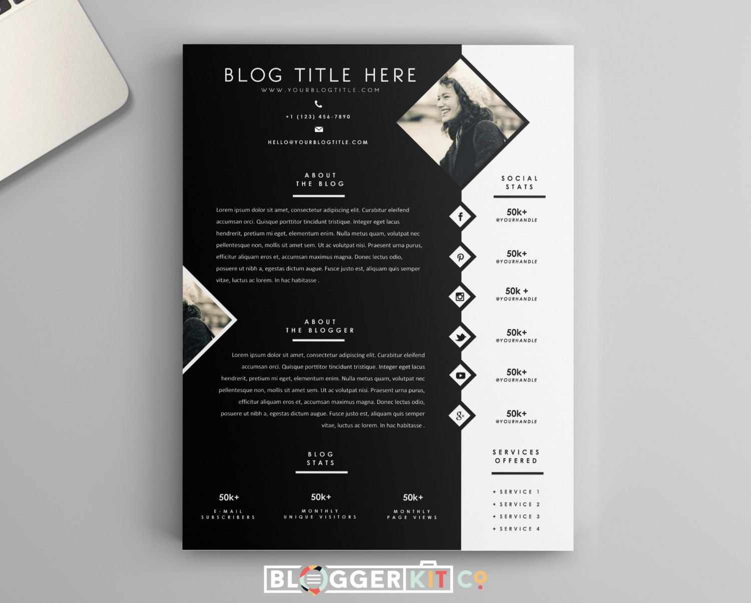 electronic press kit template free - one page media kit template press kit template by