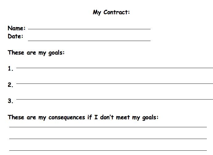 Image Result For Student Behaviour Contract  Grant School Etc