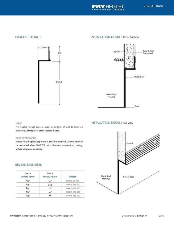 Reveal Base Example Technical Drawing | DiYT in 2019 | Architecture