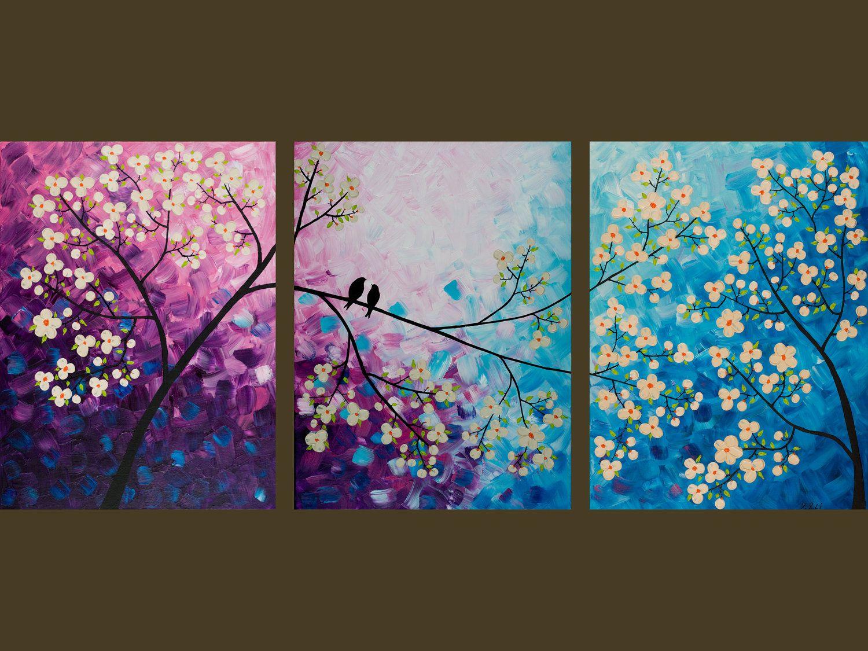 Blue Canvas Art Diy: 54 Original Modern Abstract Heavy Texture Palette By