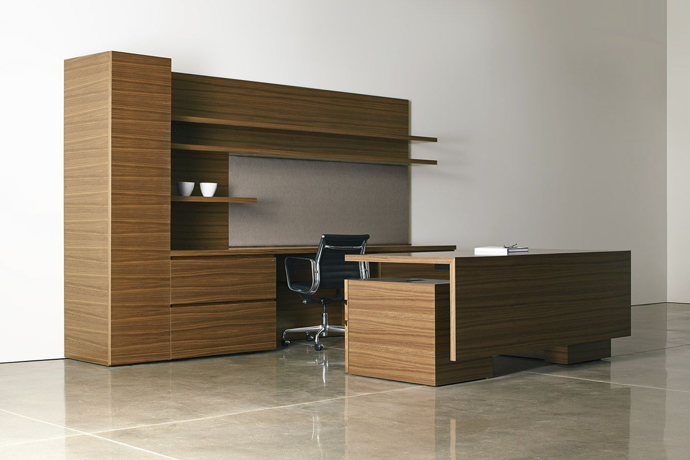 Height Adjustable Executive Desk Real Wood Home Office