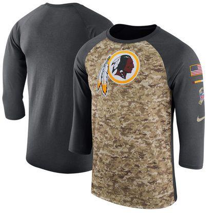new styles 18e91 4716f Men's Washington Redskins Nike Camo/Anthracite Salute to ...