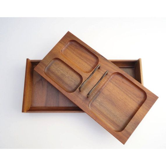 Home Office Desk Caddy Mid Century Modern Teak From Just Smashing Darling On Etsy
