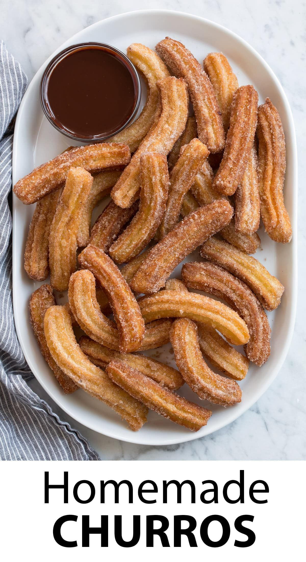 Photo of Churros – BEST churros I've ever had! via Jaclyn {Cooking Classy}