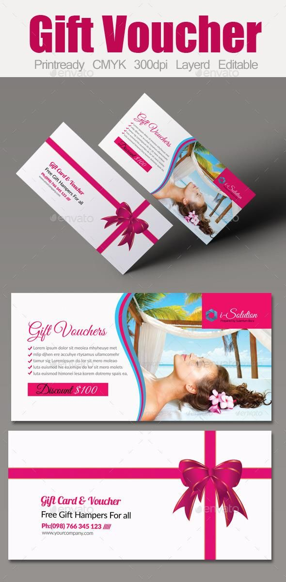 Spa Gift Voucher Template | Spa gifts, Card printing and Template