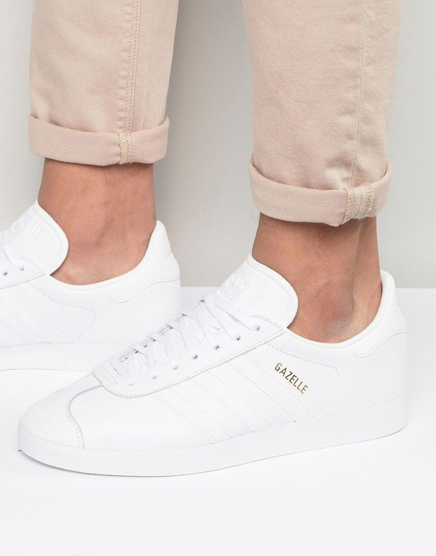 ADIDAS ORIGINALS GAZELLE SNEAKERS IN WHITE BB5498 - WHITE.  adidasoriginals   shoes   018021321
