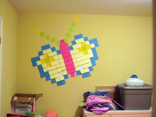 post it note wall