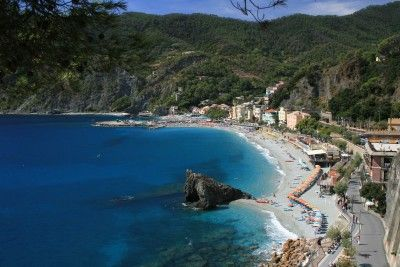 Monterosso al Mare  Beautiful beaches, rugged cliffs, crystal-clear turquoise waters, and plentiful small hotels make Monterosso a blissful place to visit.