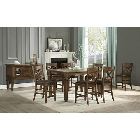 Member S Mark Theodore 9 Piece Dining Set Sam S Club Dining Set Dining Dining Chair Cushions