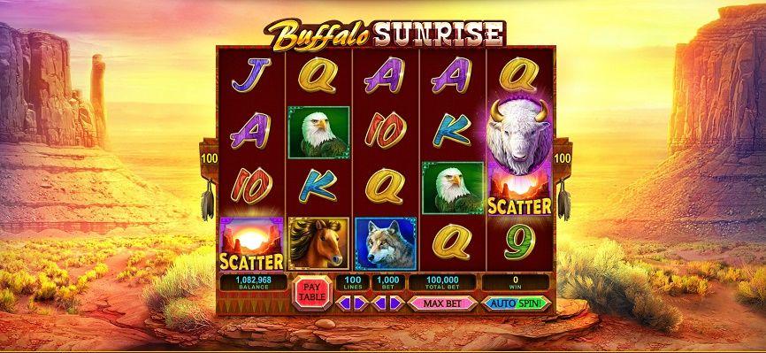 Pin By Rob Maxwell On Buffalo Reskin Free Slot Games Buffalo Sunrise