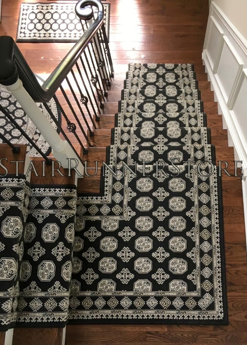 Ancient Garden Stair Runner Carpet 57102 3636 Charcoal Silver 31 Inch Approx Width Runner Staircase Runner Stair Runner Carpet Staircase Carpet Runner