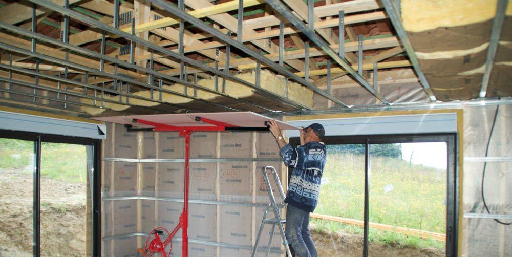 faire un faux plafond en placo cloison et am nagement pinterest plafond en placo faux. Black Bedroom Furniture Sets. Home Design Ideas
