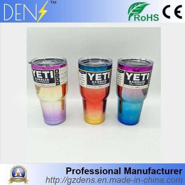 ce8c5896483 YETI Colorful UV Chrome Stainless Steel 30oz Rambler Tumbler Cooler Cup