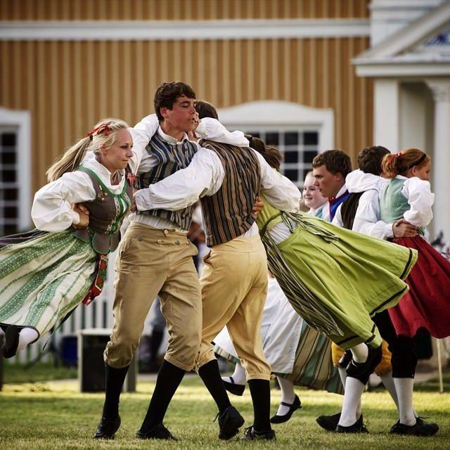 Midsummers dancing in Lindsborg, Kansas