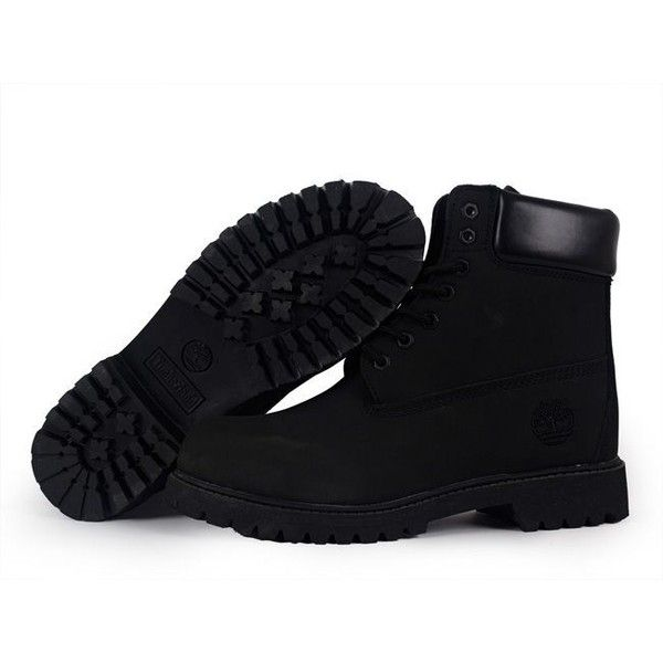 Black Timberlands 6-in ❤ liked on Polyvore featuring shoes, boots, kohl shoes and black shoes
