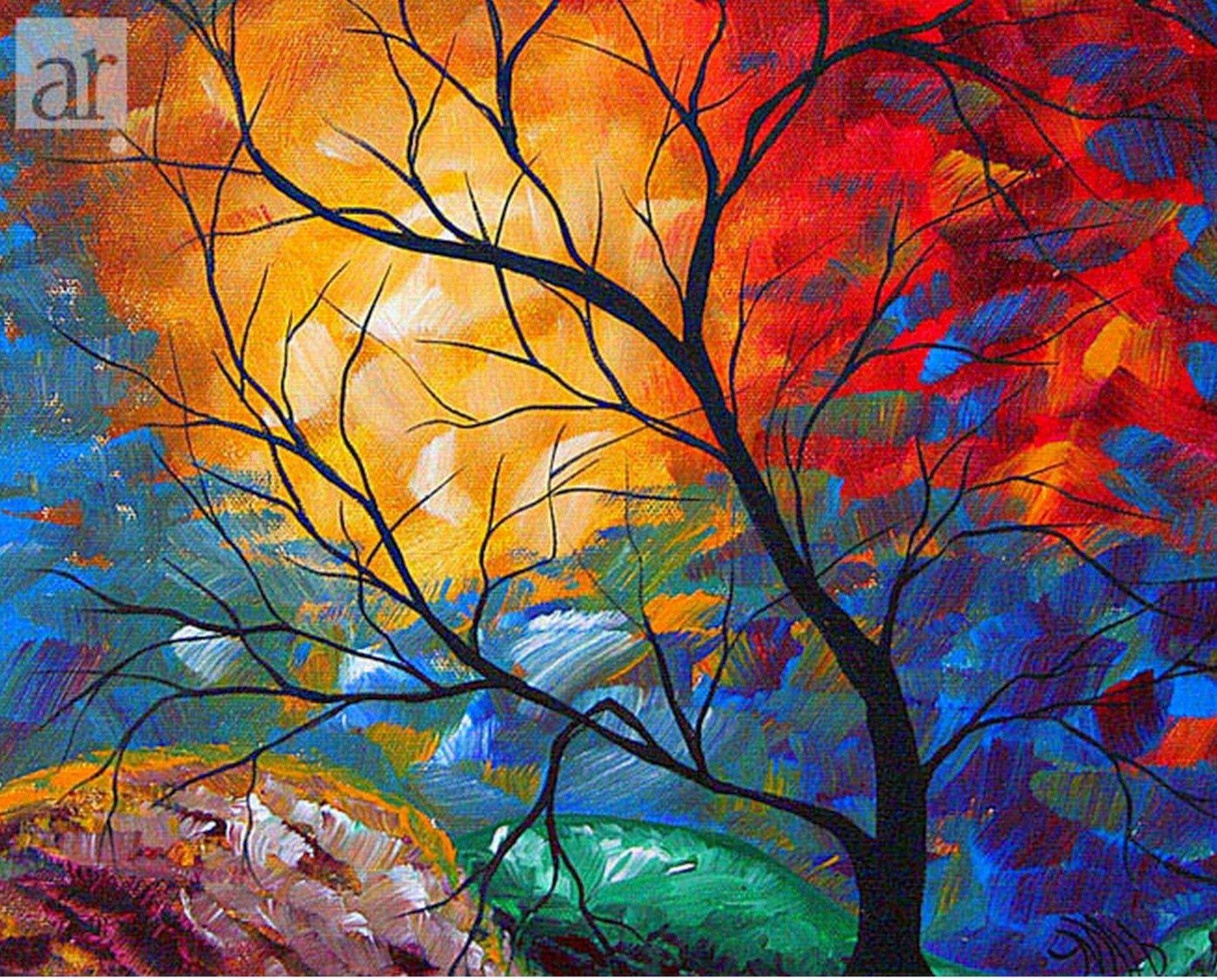imagenes-de-cuadros-faciles-y-modernos | para pintar | Pinterest ...
