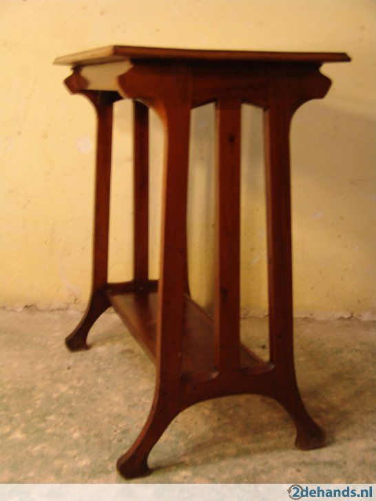 2e Hands Bijzettafel.Henry Van De Velde Bijzettafel Art Nouveau Jugendstil 1900 Tables