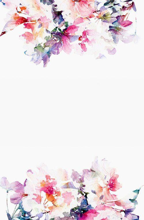 Image Via We Heart It Vintage Flower Backgrounds Floral Watercolor Background Desktop Wallpaper Art