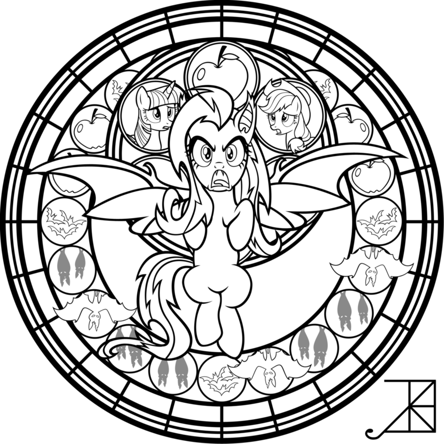 My Little Pony Dazzlings Coloring Pages. SG  Flutterbat coloring page by Akili Amethyst on DeviantArt