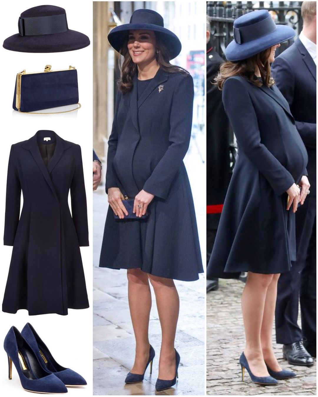 0ececcfcdc The Duchess looked stunning in a repeated outfit for today s Commonwealth  Day Service at Westminster Abbey. Kate s navy Beulah London…