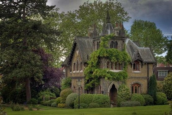 Gothic Victorian House In Forest