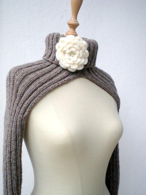 Cuello hombros lana de tejer guantes Bolero por crochetbutterfly ...