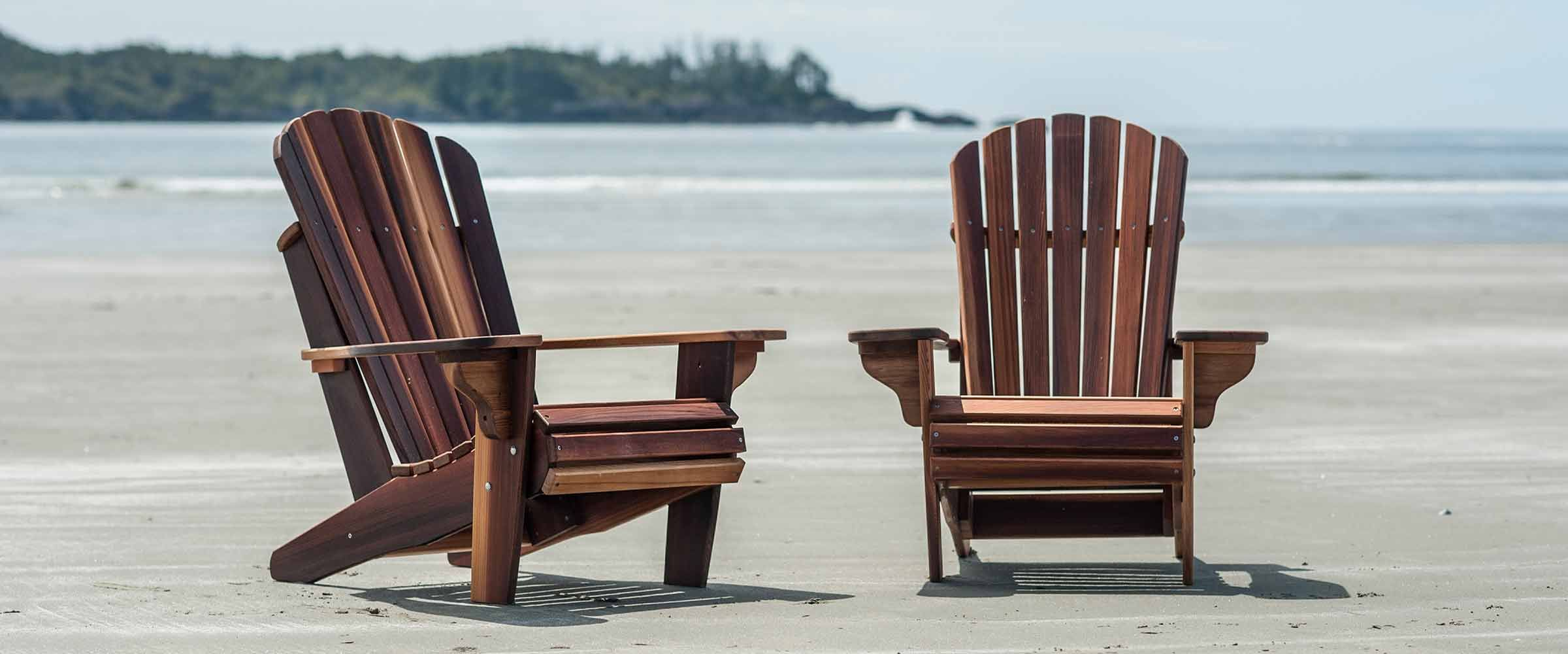Adirondack Cedar Chairs From Tofino Cedar Furniture For The Back Yard