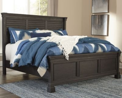 tyler creek king louvered bed black gray products bed rh pinterest com
