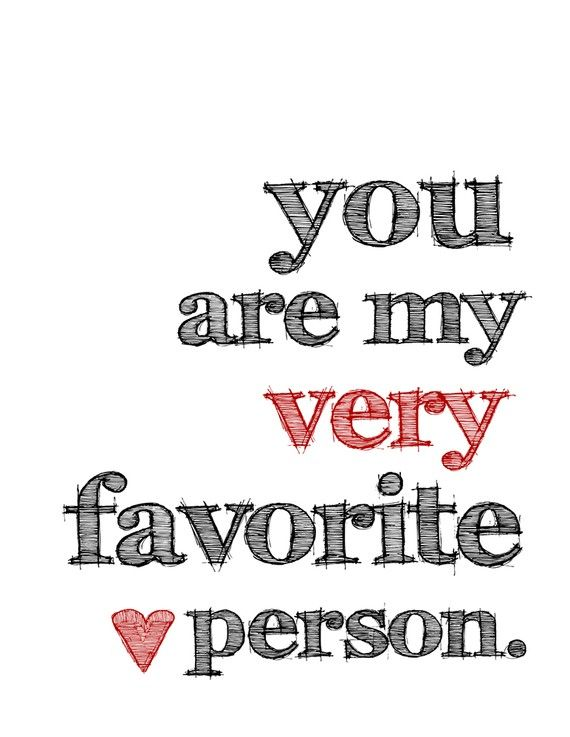You Are My Very Favorite Person Greeting Card And Red Envelope