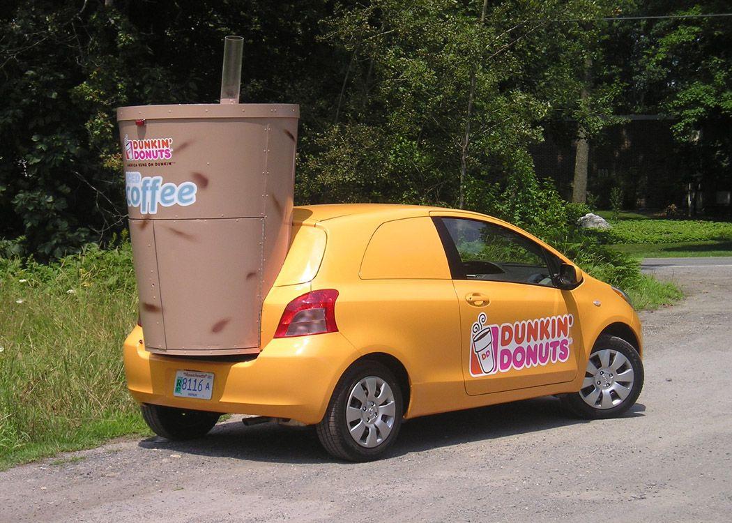 Dunkin Donuts Sampling Vehicle - Custom Sculpted Ice ...