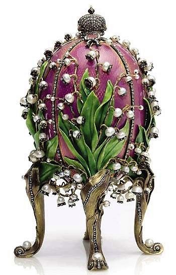 1898 lily of the valley imperial egg given to the czarina empress faberge lilies of the valley egg easter gift presented by tsar nicholas ii to his wife alexandra this is one of the most beautiful eggs negle Gallery