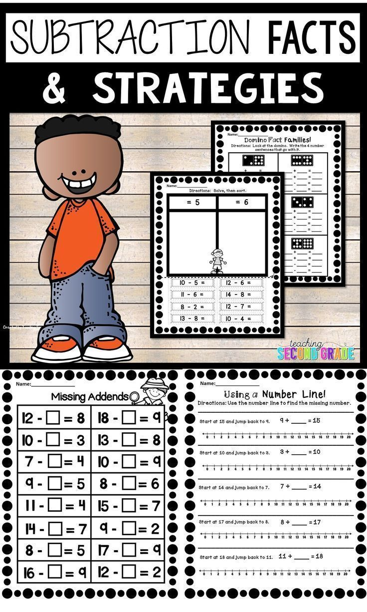 Subtraction Facts Worksheets - Use these basic math fact ...