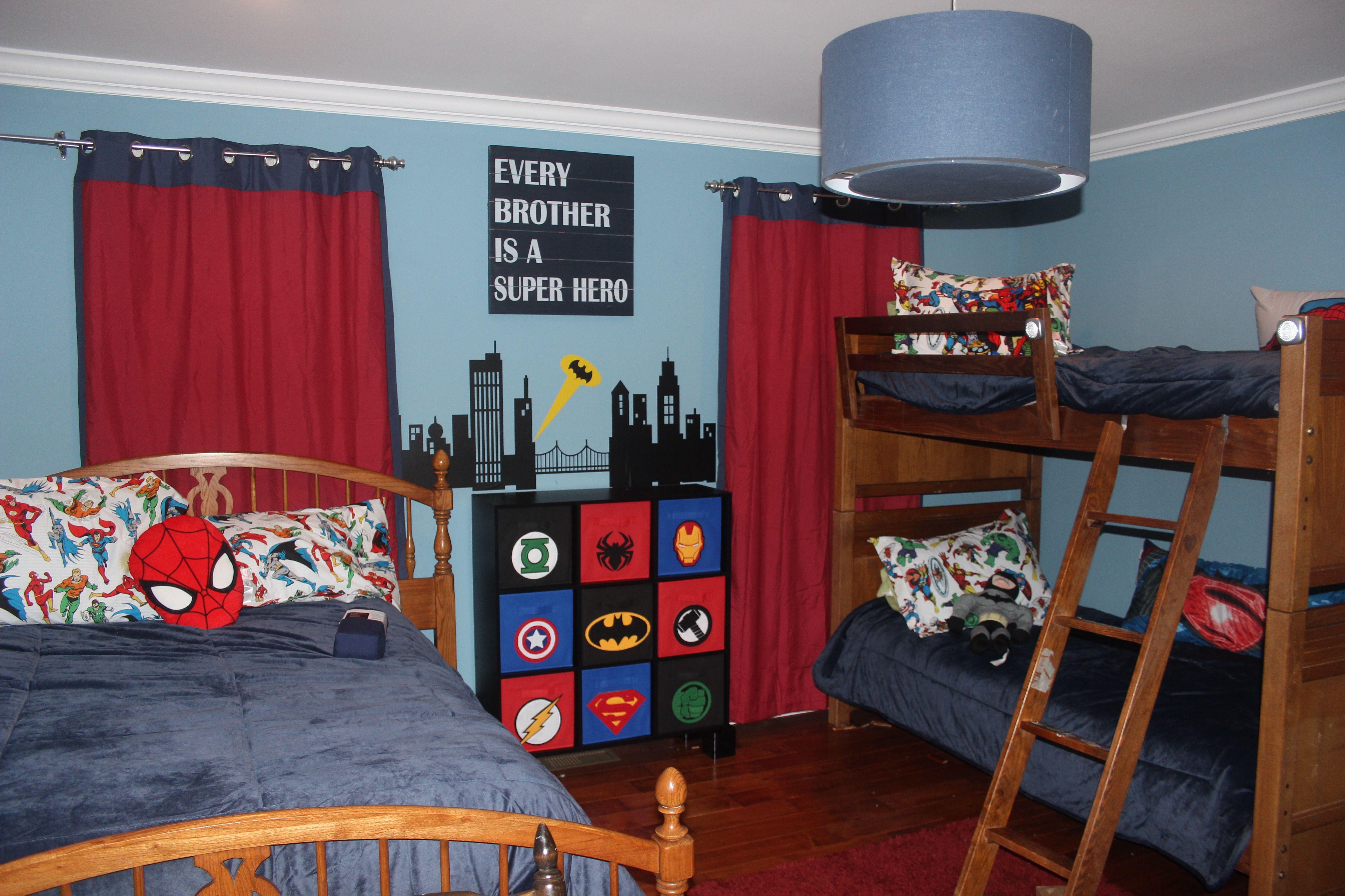 Superhero Bedroom Decor Super Hero Bedroom Marvel Storage Wall