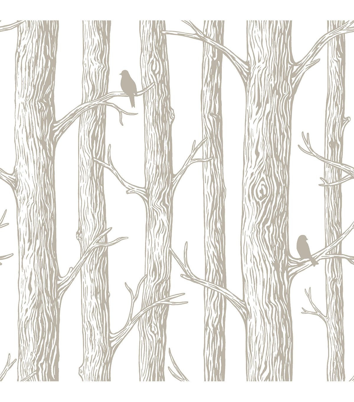 Wallpops Nuwallpaper The Forest Peel And Stick Wallpaper Joann Jo Ann Nuwallpaper Birch Tree Wallpaper Tree Wallpaper