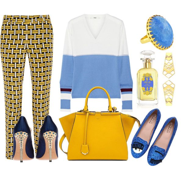 A fashion look from January 2015 featuring Fendi sweaters, Fendi pants and Chiara Ferragni loafers. Browse and shop related looks.