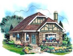 English country House Plan 2 Bedrooms 1 Bath 757 Sq Ft Plan 40 122