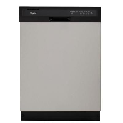 Whirlpool Front Control Dishwasher In Stainless Steel Wdf510pays The Home Depot Dishwasher Installation Dishwasher Efficient Dishwasher