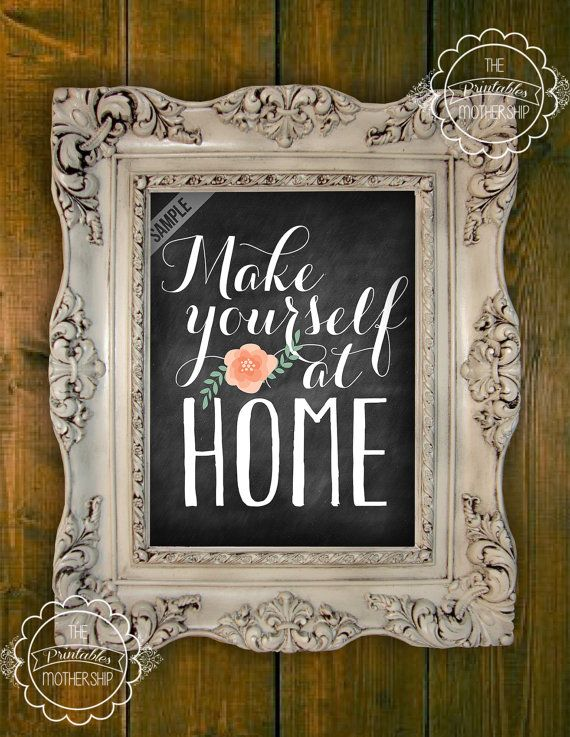 Make Yourself At Home Guest Room Printable Digital File