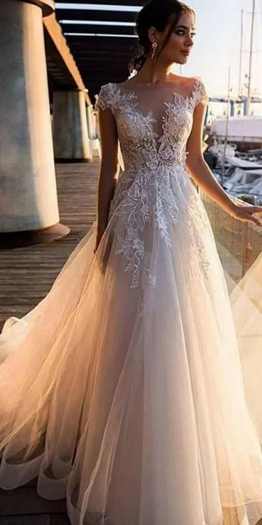 121 illusion long sleeve wedding dresses you'll like -page 34 > Homemytri.Com