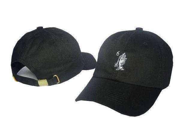 2d20c804596 New Hot Drake 6 God Ball Cap Embroidered Praying Hands Baseball Caps  Adjustable Sports Snapback Sun Hat Golf Hats Skateboard Strapbacks