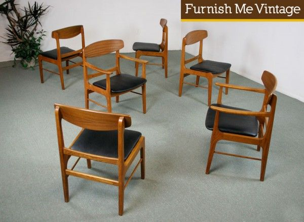 Good 6 Mid Century Modern Stanley Danish Forum Chairs